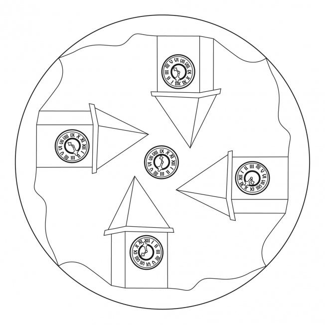 Uhrturm-Mandala