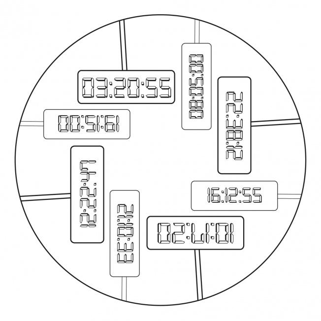 Digitaluhr-Mandala