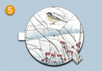 Mini-Lapbook Tiere im Winterwald: Drehrad