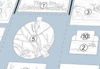 Mini-Lapbook Tiere im Winterwald: Projektplan (SW)