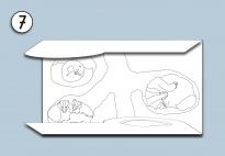 Mini-Lapbook Tiere im Winterwald: Faltkarte 2 (SW)