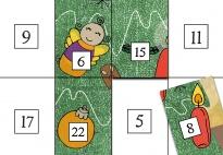 Arbeitsblatt: 24 Puzzleteile bis Weihnachten
