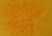 Blätterfrottage