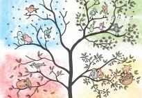 Riki und seine Freunde: Der Jahreszeiten-Baum A4