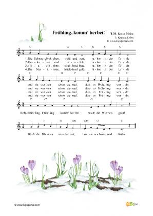 Schneeglöckchen Lied Text