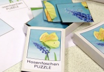 Hosentaschen PUZZLE Zitronenfalter: Spielanleitung