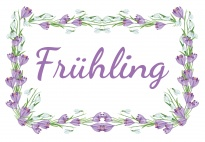 Portfolioblatt: Frühling-Schmuckrahmen