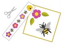 Die Biene - ein Schneidebild für die Sprüchebox