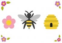 Die Biene - ein Gedicht für die Sprüchebox