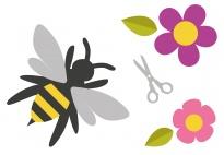 Die Biene - Legematerial für die Sprüchebox