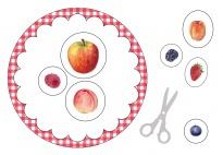 Portfolioblatt: Das esse ich gerne/Früchte und Beeren bunt