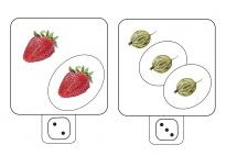 Früchte und Beeren Zählspiel im Zahlenraum 0-6
