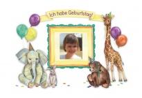 Geburtstagsplakat mit Tieren für die Geburtstagstür
