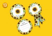 Mini-Lapbook Sonnenblume: Beschriftung und Auszeichnung