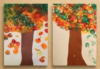 VIDEO: Bäume im Herbst - schneiden, kleben, stempeln