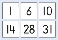 Montessori-Inspired Calendar Number Cards