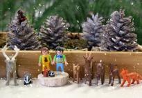 VIDEO: Aktionstablett Kleine Welt Spiel Winterwald