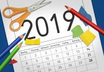 Bastelkalender 2019: Jänner, Januar bis Juni