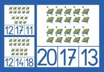Kreisel Klammerkarten im Zahlenraum 10-20