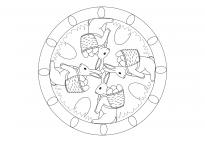 Oster-Mandala mit Osterhasen 1