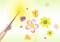 Die Blumenfee zaubert Blumen