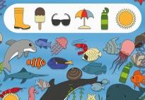 Am Meer: Unter Wasser Suchbild