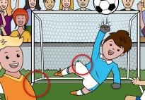 Am Fußballplatz: Fehler Suchbild