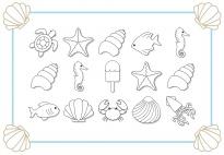 Am Meer: Zähl- und Malspiel einfach