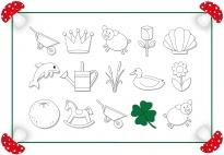 Suchspiel: Das vierblättrige Kleeblatt einfach