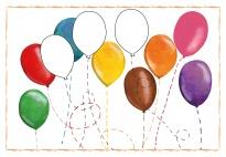 Wir verkleiden uns: Luftballons nachspuren (schwierig)