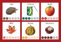 Endlich ist der Herbst im Land: Silbenspiele-Bildkarten
