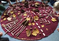 Bodenbild: Die Schätze des Herbstes