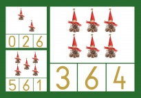 Christmas Count & Clip Cards from 0-6