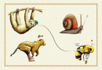 Gegensätze erkennen mit Tieren: Zuordnungsspiel