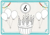 Portfolioblatt: Ich habe Geburtstag mit Ballons 3-7 Jahre SW