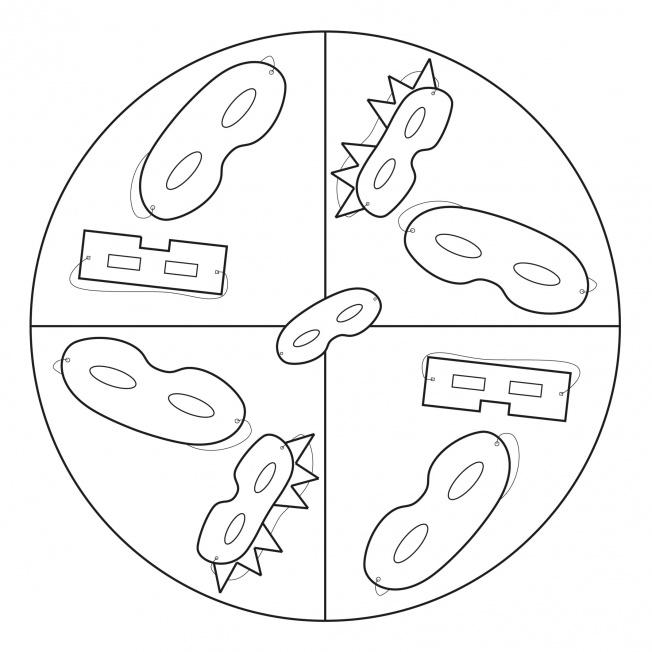 Masken-Mandala 1