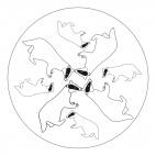 Dachs-Mandala