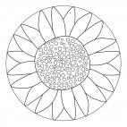 Sonnenblumen-Mandala