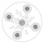 Sonnenblumen-Mandala 1
