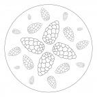 Herbst-Mandala mit Zapfen