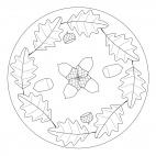 Herbst - Mandala mit Eichenblättern