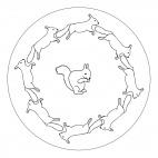Eichhörnchen-Mandala