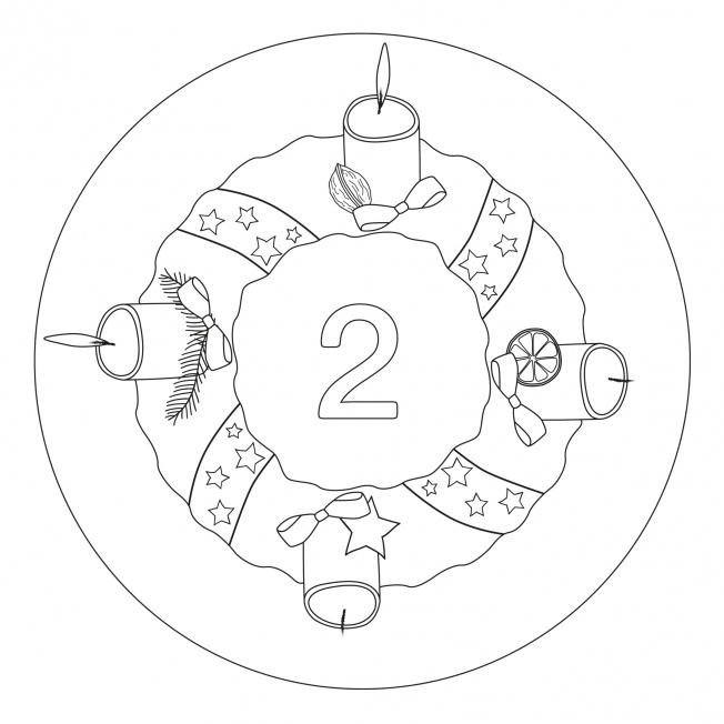 Weihnachtsmandala-2. Advent