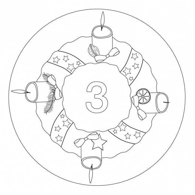 Weihnachtsmandala-3. Advent