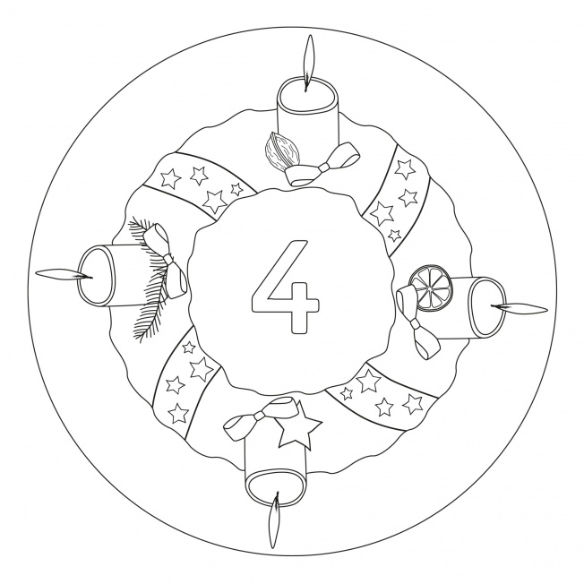 Weihnachtsmandala-4. Advent