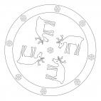 Rentier-Mandala 1