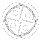 Zuckerstangen-Mandala