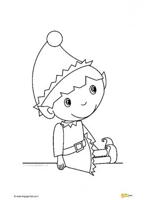 Weihnachtswichtel Malvorlage Coloring And Malvorlagan