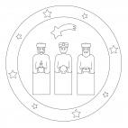 Heilige 3 Könige-Mandala