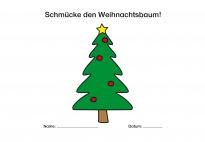 Weihnachtsbaum-Turnstunde-Vorlage